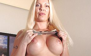 Blond <b>Milf</b> frolicking all alone