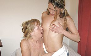 Granny enjoys to have fun with a junior fanny