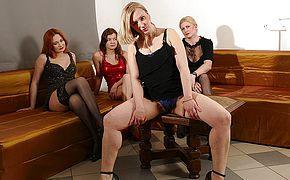 4 super naughty housewives go total girly girl