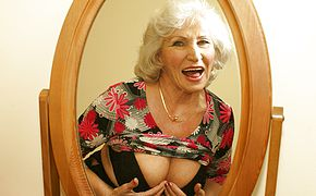 Glance at <b>grandma</b> getting moist and insatiable