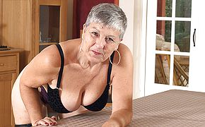 Mischievous large titted British housewife toying with herself