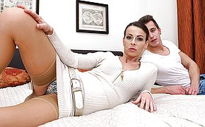 Warm mother porking and fellating her plaything stud