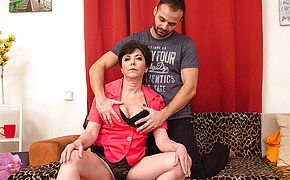 <b>Naughty</b> housewife drilling with her paramour