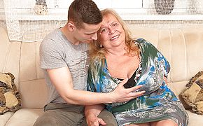 Big titted mama frolicking with her plaything guy