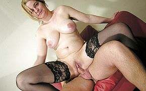 Wild mature bi atch plowing and getting her knockers creamed
