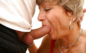 With her crimson panyties on mother gets ravaged on a public wc