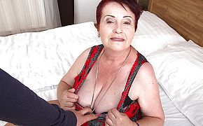 Round fur covered mature dame getting plumbed in Point of view fashion