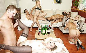 A sensational and crazy mature sexparty
