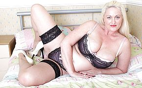Sizzling Brit large titted housewife gets insane as hell