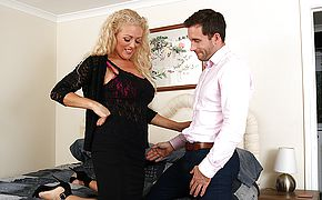 Steaming British <b>Milf</b> Rebecca blowing and pulverizing
