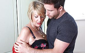 Super naughty Brit housewife entices the handyman