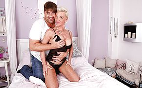 Super naughty German housewife gargles thick manhood and gets plumbed rock hard