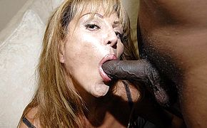 Yhis insatiable mama luvs those 2 dark hued meatpipes