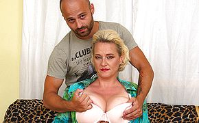 <b>Big breasted</b> housewife getting her fill