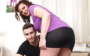 Curvy housewife porking with her plaything dude