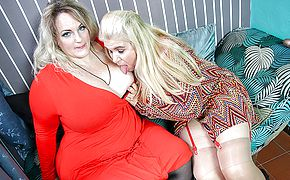 Two naughty <b>big breasted</b> mature ladies go all the way