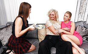 These three <b>old</b> and young ladies try something else