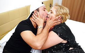 This curvy mature <b>lady</b> gets it good from her younger lover