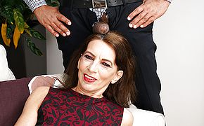 This naughty mature <b>lady</b> is ready for her black surprise