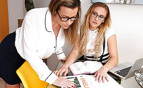 This naughty tutor has some kinky things she wants to do with her <b>lesbian</b> student